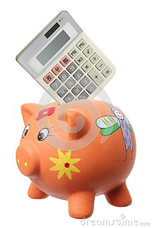 Piggybank and Calculator