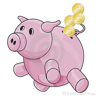 Piggybank with clipping path