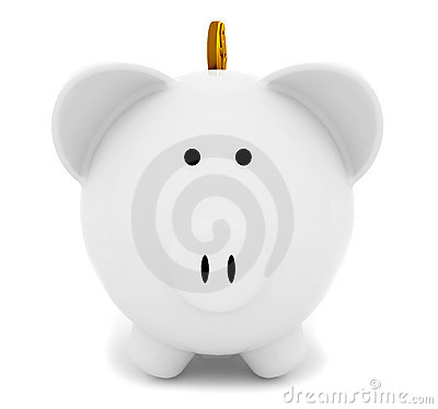 Piggybank with a coin
