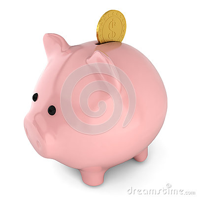 Piggybank with coin