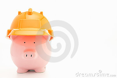 Piggybank with hard hat
