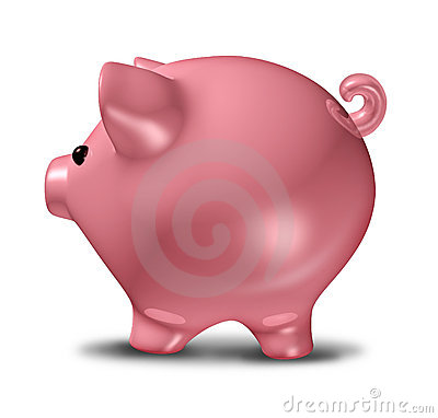 Piggybank side view