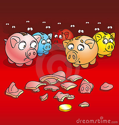 Pigs-coin boxes