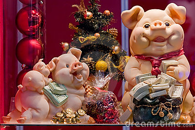 Pigs-New Year s toy symbols