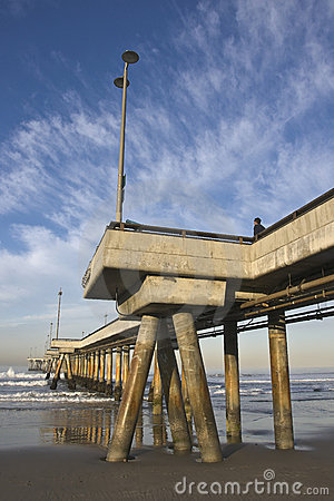 Pijler bij het Strand Californië van Venetië