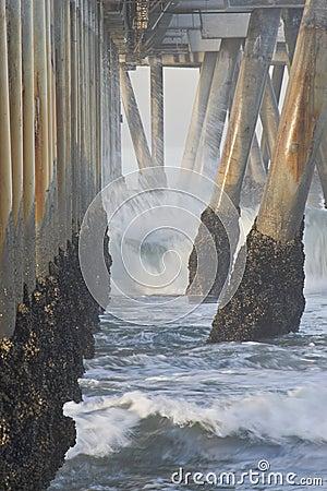 Pijler bij Strand Californië-02 van Venetië