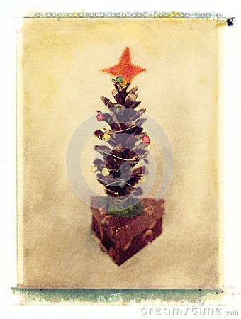 Pijnboom-kegel Kerstboom