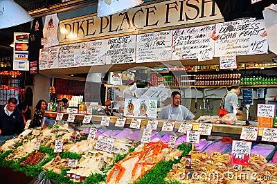 Pike Place Fish Market on Pike Place Fish Market Silvestrov Dreamstime Com