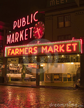 Free Pike Place Market Royalty Free Stock Photos - 1613938