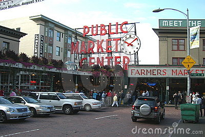Pike Place Market - Seattle Editorial Stock Image