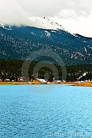 Pikes Peak Rocky Mountain Lake