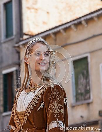 Piękna Młoda Kobieta Fotografia Editorial