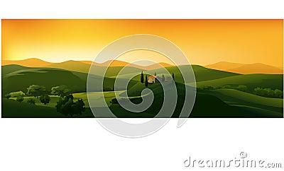 Piękny krajobrazowy wektor