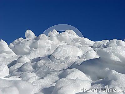 Pila de nieve
