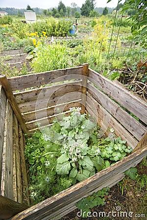 Pila del estiércol vegetal