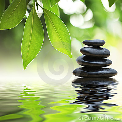 Pila delle pietre di zen