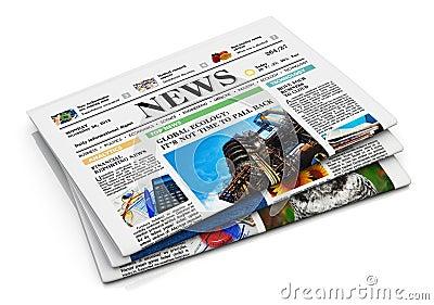 Risultati immagini per clipart giornali