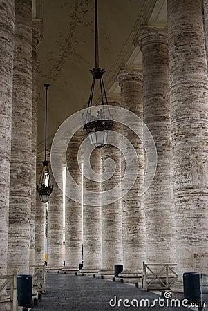 Pilars at vatican