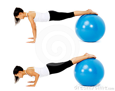 Pilates ball exercise