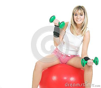 Pilates ball woman exercise