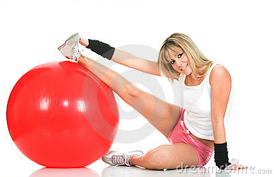 Pilates girl stretching and fitness concept