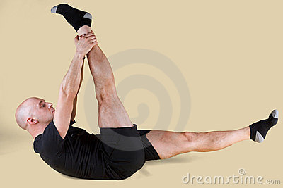 Pilates Position - Single Straight Leg Royalty Free Stock Photos - Image: 23657928