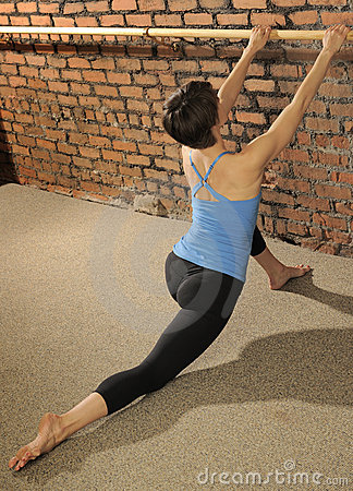 Pilates Stretch on Ballet Barre