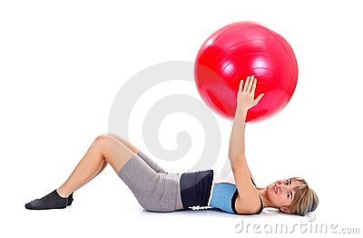 Pilates working out