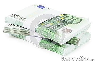 Pile of 100 Euros