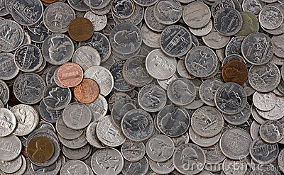Pile Of American Coins Stock Photo - Image: 633100