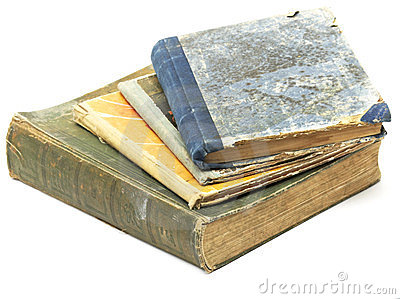 Pile of antique books