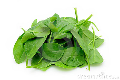 Pile of baby spinach