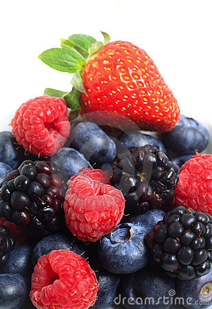 Pile of berry fruits