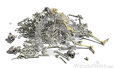 Pile of Bones with Skeleton 2