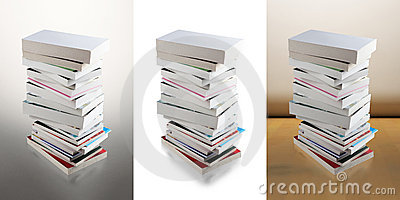 Pile of books (clipping path)