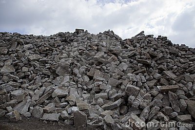 Pile of brick rubble