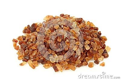 Pile  of brown granulated sugar