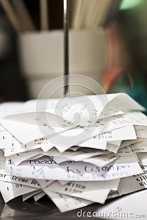 Pile of checks