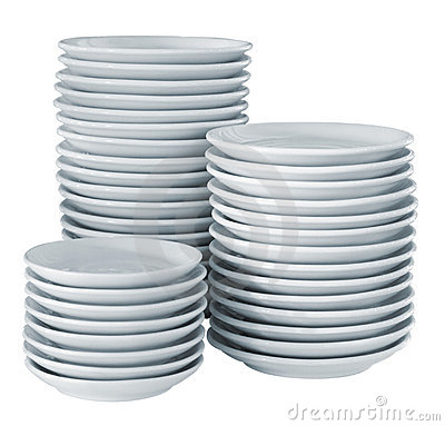 Free Pile Clean Side Plates Stock Photography - 2519212