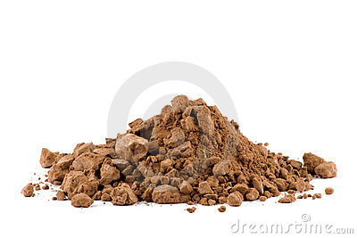 A pile of Cocoa powder isolated