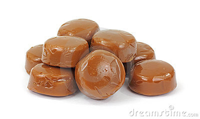 Pile of Coffee Flavored Hard Candy