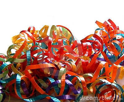 Pile of Colored Curling Ribbons