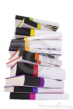 Pile of colorful books