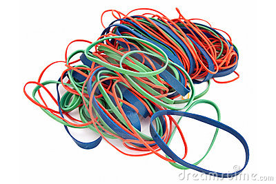 Pile of Colorful Rubberbands