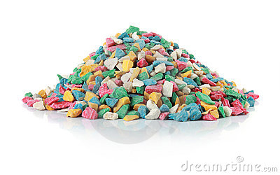 Pile of colorful stone