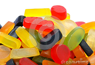Pile of colorful wine gums