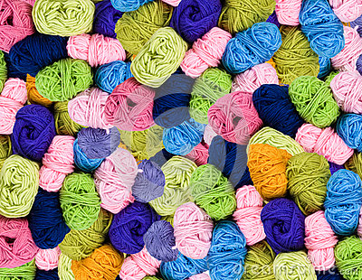 Pile of colorful wool