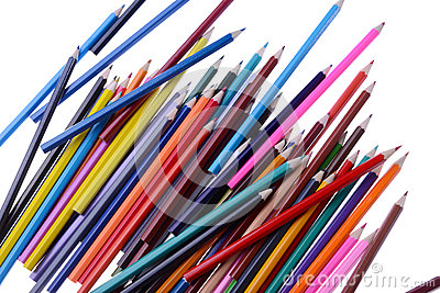 Pile of coloring pencils