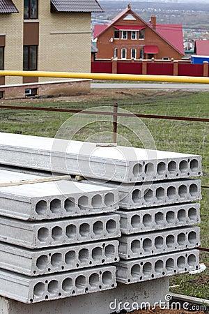 Pile  concrete slab  construction house