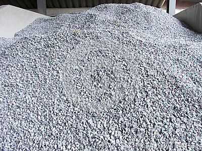 Pile of construction gravel